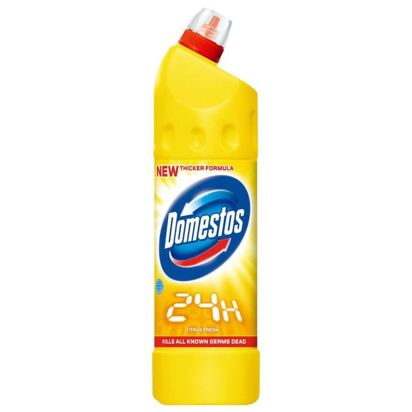 Domestos Płyn do WC 1.25L 24H Citrus Fresh (żółty)
